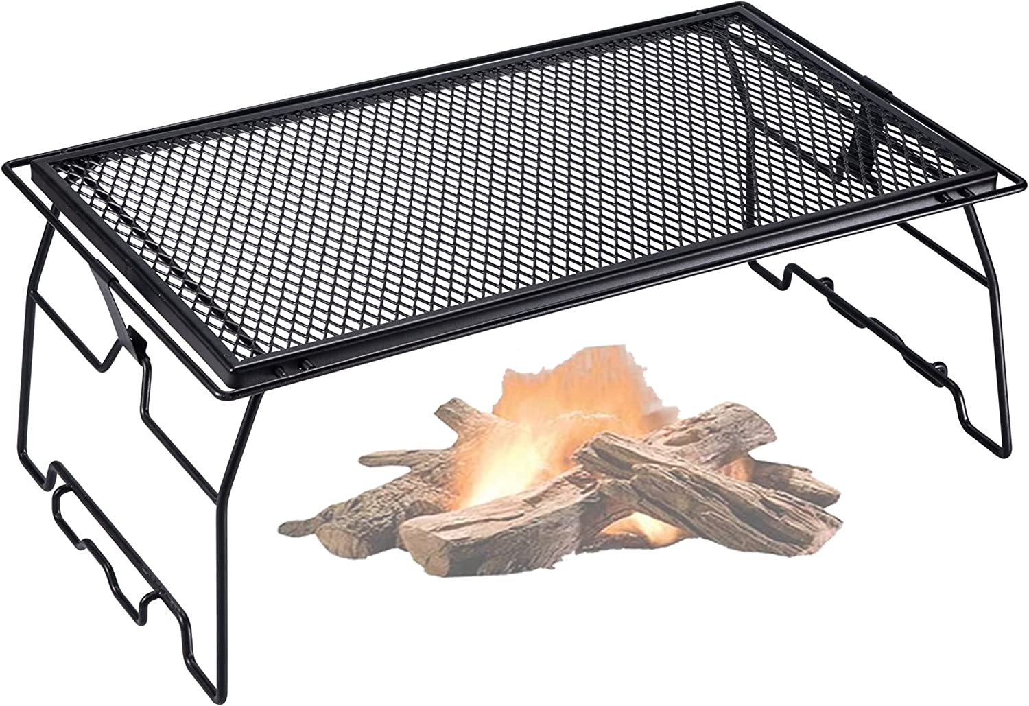 CAMPINGMOON Steel quality assurance Foldable Campfire Rack Grill Mail order cheap Storage Stackable