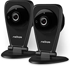 meShare Security Camera 1080p - Home Camera Wireless Cloud Cam System with Two Way Audio, Night Vision and Smart Motion Alerts, Seniors, Pet, Baby Monitor, Works with Alexa (2 Pack)