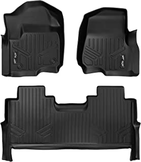MAXLINER Floor Mats 2 Row Liner Set Black for 2017-2019 Ford F-250/F-350 Super Duty Crew Cab with 1st Row Bucket Seats