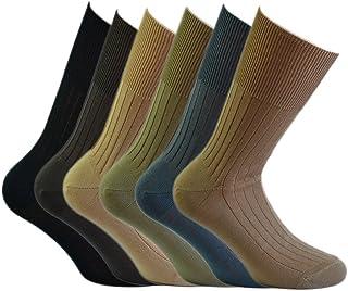 Fontana Calze, 6 paia di calze UOMO sanitarie a bassa compressione in cotone 100%.