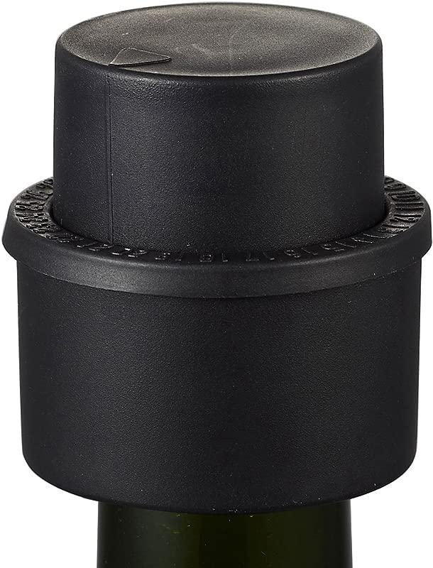 Visol 2 In 1 Soda Bottle Pump Stopper Black
