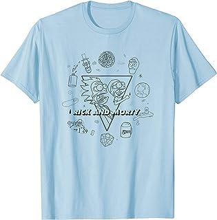 Adult Swim Rick & Morty Scared Outline T-Shirt
