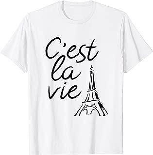 C'est La Vie French Phrase & Eiffel Tower T-Shirt