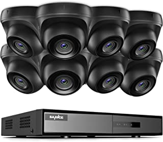 SANNCE 8-Channel HD 1080N Home Security Camera System and (8) 720P Indoor/Outdoor Weatherproof Cameras with IR Night Visio...