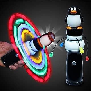 Windy City Novelties LED Light Up Penguin Galaxy Spinner Toy for Kids