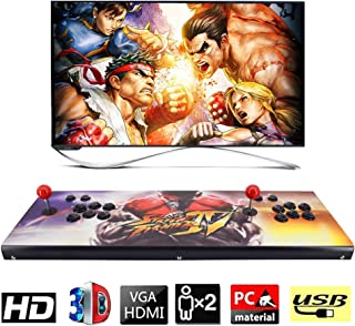 XFUNY. Arcade Game Console 2680 Retro HD Games in 1 Pandora Treasure II Street Fighter Style 2 Players Arcade Machine with Arcade Joystick for TV / Laptop / PC / PS4 / Switch (SF-B)