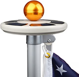 Sunnytech 3rd Generation Solar Power Flag Pole Flagpole Light,Upgraded UFO Design,Advanced Sensor,Enhanced Solar Batteries Panels,Waterproof Protection,Intelligent Self-Charging Auto Active