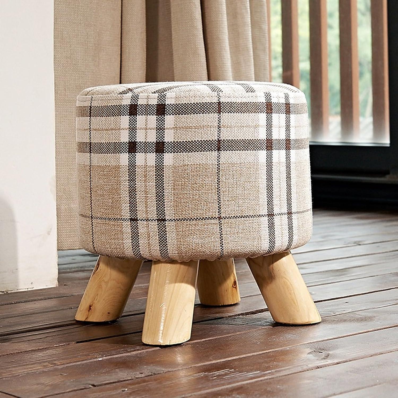 Footstools Living Room Wood Grey Small Footstool Knitted Sofa Stool