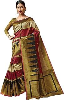 بلوزة نسائية نسائية نسائية هندية تقليدية مناسبة للاحتفالية من القطن بلون كستنائي موديل 5792