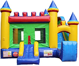 Bounce Zone Castle Theme Inflatable Slide Combo Commercial Grade Bounce House