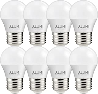 J.LUMI A15 LED Bulb, 5 Watt Light Bulbs, Small Light Bulbs 45mm Diameter, E26 Medium Base, 3000K Soft White, Vanity Light Bulbs, Ceiling Fan Bulbs, NOT DIMMABLE (Pack of 8)