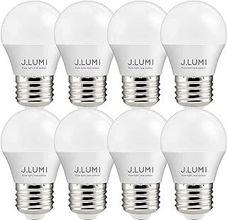 J.LUMI BPC4505 LED Bulbs 5W E26, 40W Appliance Bulb, A15 LED Bulb, Compact 45mm Diameter, 3000K Soft White, Refrigerator Light Bulb, Appliance Light Bulb, Ceiling Fan Bulbs, NOT DIMMABLE (Pack of 8)
