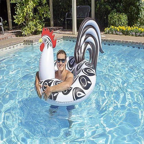 MQW Coq Anneau De Natation Queue Flottante Monte PVC Jouet De l'eau Lit Flottant Jouet De l'eau Lit Flottant Loisirs et de DivertisseHommest