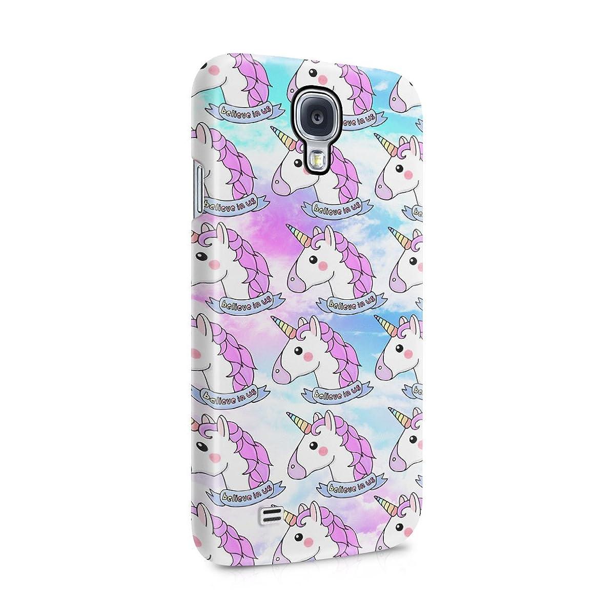 Unicorn Heads Pattern Believe In Us Hard Plastic Phone Case For Samsung Galaxy S4