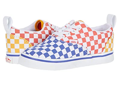 Vans Kids Era Elastic Lace (Infant/Toddler) ((Tri Checkerboard) Multi/True White) Kids Shoes
