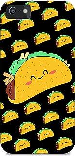iPhone 5/iPhone 5S - Hard Plastic Case - Taco - Taco Pattern - Cute Taco - Fastfood - Pattern - Cute - Fun - Funny - Black Background