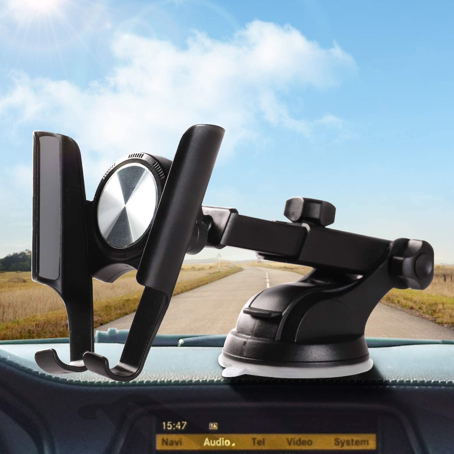 Suitable for iPhone Galaxy Phone Car Holder Vents Retractable Long arm Suction Cup Holder for Instrument Panel Windshield Universal Car Phone Holder LG Series car Phone Holder Universal Type