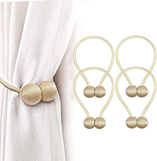 Deamos Strong Magnetic Curtain Tiebacks, Curtain Holdbacks, Modern Decorative Window Curtain Tie Band for Home Office Wind...