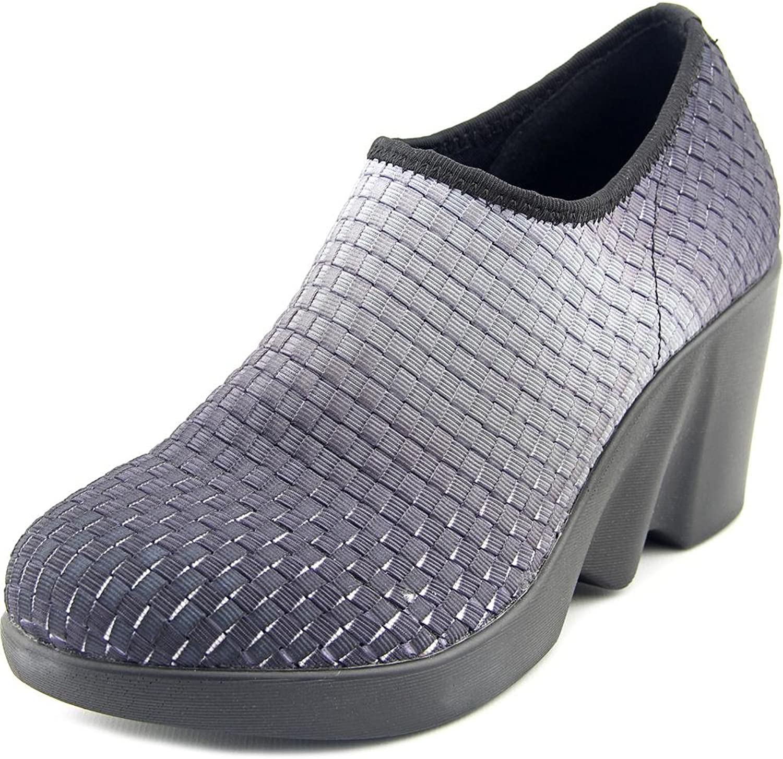 Zee Alexis Women's Prather Black Ombre Woven Elastic Wedge shoes