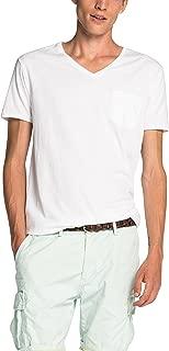 Scotch & Soda Mens Pocket V-Neck T-Shirt, White