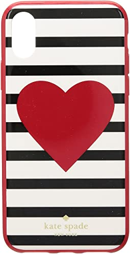 Kate Spade New York - Heart Stripe Phone Case for iPhone® X