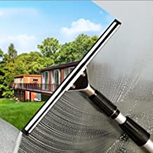 Telescopic Window Cleaner with Squeegees, Cleaning Kit with Extension Pole, Extendable Cleaner Conservatory Roof Cleaning ...
