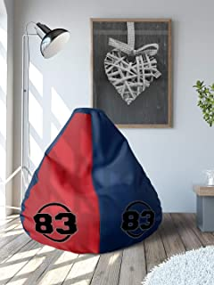 83 by @Home XL Leatherette Bean Bag (Blue & Red)