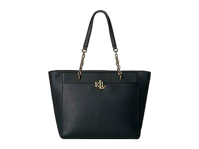 LAUREN Ralph Lauren Elmswood Langdon 30 Tote (Black) Handbags