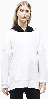 Calvin Klein Women's Oversized Long Sleeve Logo Pullover