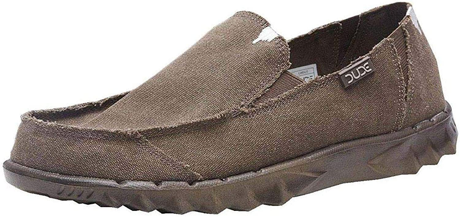 Hey Dude Farty Choco Roughcut Canvas Mens Slipons shoes