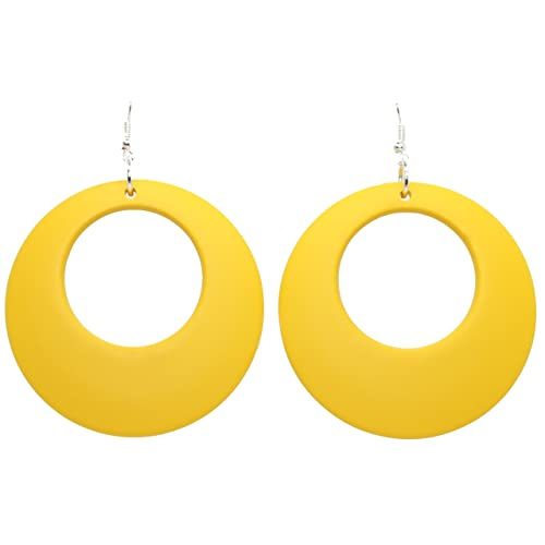 b59baf3a418b75 Bluebubble DISCO FEVER Large Round Pastel Hoop Earrings - 32 Colours  Available With FREE Gift Box