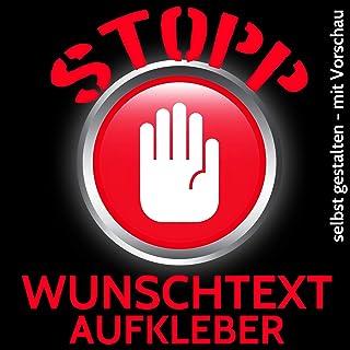 Beschriftung Wunschtext AutoTuning Aufkleber selbst gestalten Schriftzug Zahl   > Länge 10cm