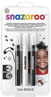 Snazaroo Set de 3 Rotuladores de Maquillaje, color blanco y