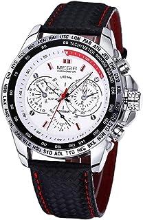 Megir Casual Watch For Unisex Analog PU Leather - 200024000