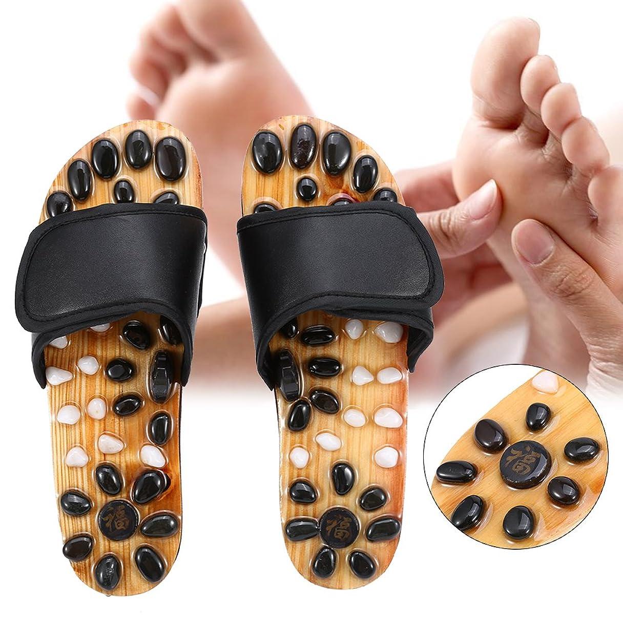 インディカ松経済的足マッサージスリッパ、リフレクソロジー足底筋膜炎ヘルスケアマッサージシューズ男性と女性のための足の痛みを軽減する (2# 38)