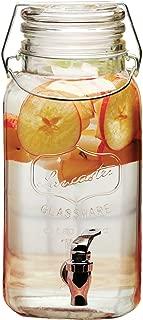 Circleware 68116 Lancaster Yorkshire Mason Jar Glass Beverage Dispenser with Hermetic Locking Lid Glassware For Water, Juice, Beer, Wine, Liquor, Kombucha Iced Tea Punch & Cold Drinks, 1 Gallon,