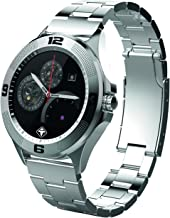 Tiger Smartwatch Stainless Steel Silver with Touch Screen for Android/IOS, with Microphone and Speaker