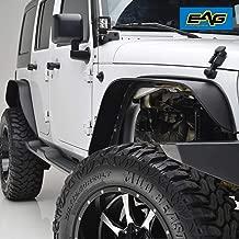 EAG Front+Rear Fender Flares Steel 4PCS Fit for 2007-2018 Jeep Wrangler JK