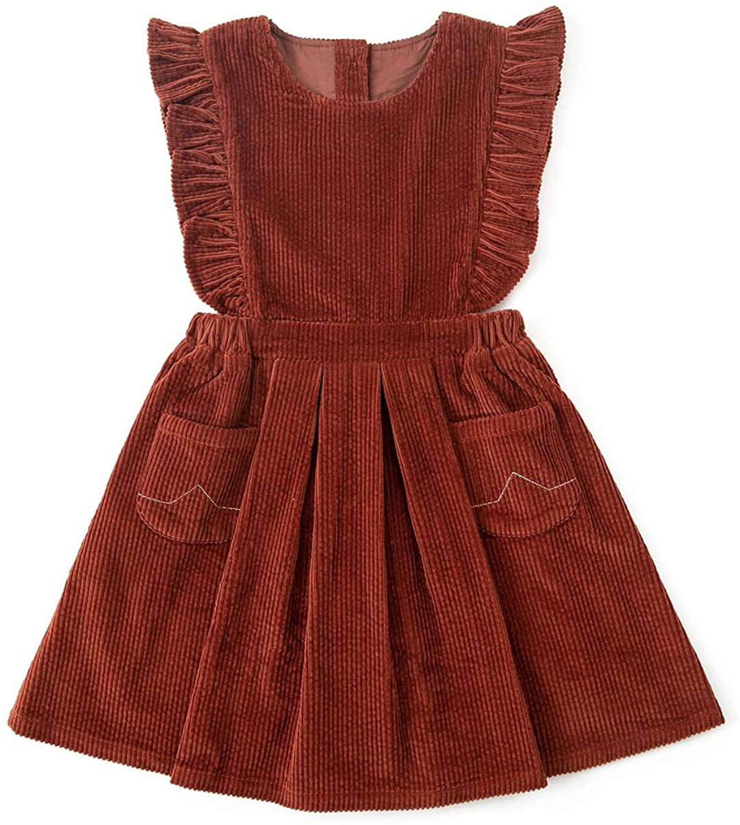 1930s Children's Fashion: Girls, Boys, Toddler, Baby Costumes Simplee kids Toddler Girl Casual Dress for Spring Girls Skrit with Pocket  AT vintagedancer.com