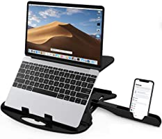 STRIFF Adjustable Laptop Stand Patented Riser Ventilated Portable Foldable Compatible with MacBook Notebook Tablet Tray...