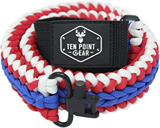 Ten Point Gear Extra Wide Gun Sling Paracord 550 Adjustable w/Swivels (Multiple Color Options)