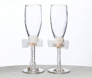 Lillian Rose Coastal Beach Seashell Wedding Toasting Glasses