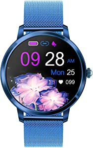 RAIMI Fashion Smart Watch for Women, Sport Fitness Activity Tracker Bluetooth Bracelet with Heart Rate, Blood Pressure Monitor, Sleep Tracker, IP67 Waterproof, Sync with Google Fit, iOS & Android App