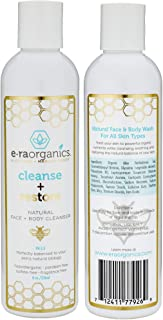 Natural Moisturizing Face Wash - Gentle Sulfate Free Facial Cleanser and Body Wash with Organic Aloe Vera & Manuka Honey for Dry, Oily, Damaged, Sensitive Skin. Ph Balanced, Non Toxic 8oz Era-Organics