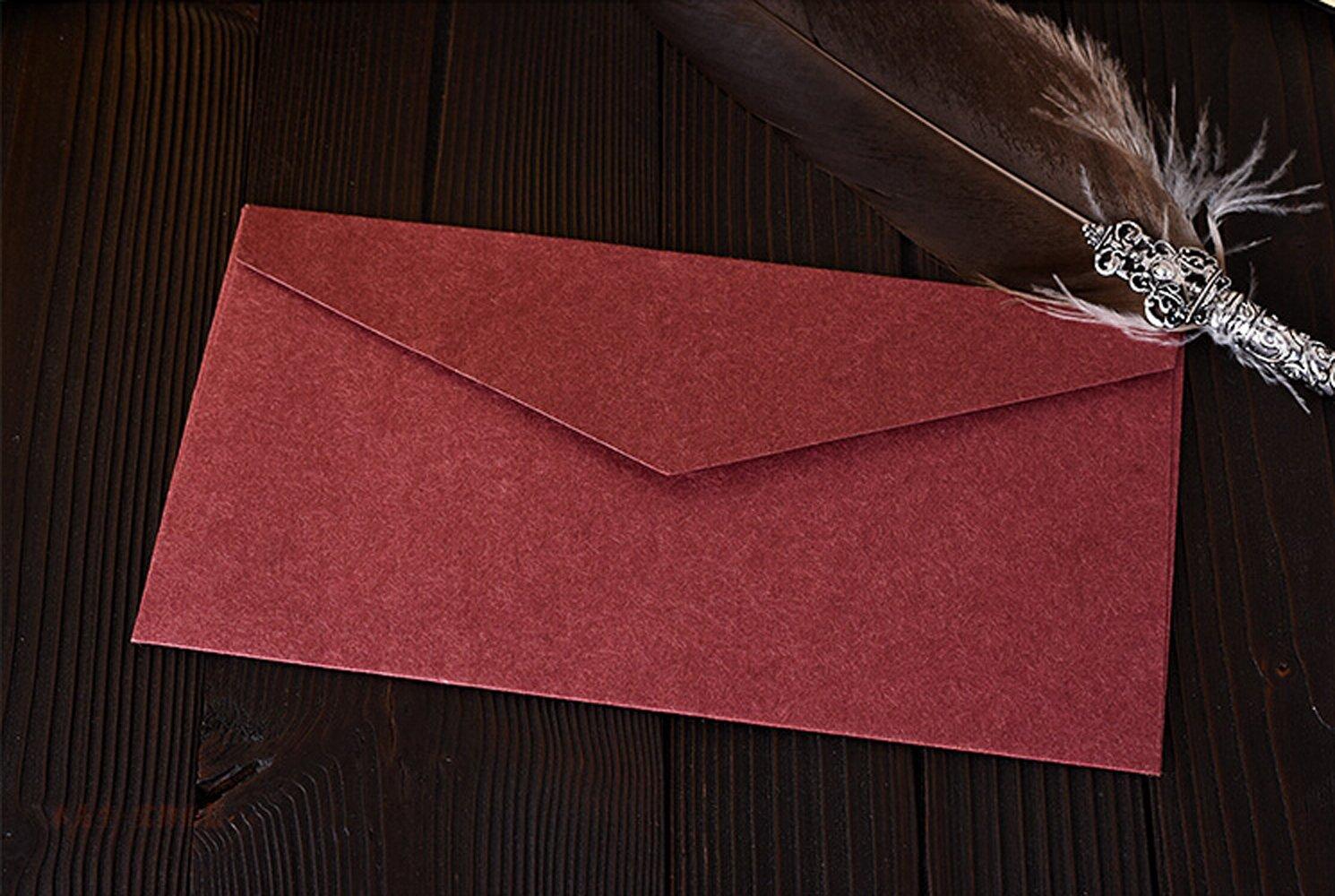 10 Pack Western invitaciones sobres -- 8,7 x 11 cm) en blanco ...