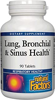 Lung, Bronchial & Sinus Health by Natural Factors, Natural Supplement for Respiratory Health and Easy Breathing, 90 tablet...