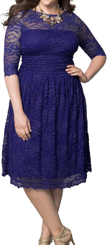 Kiyonna Women's Plus Size Scalloped Luna Lace Dress