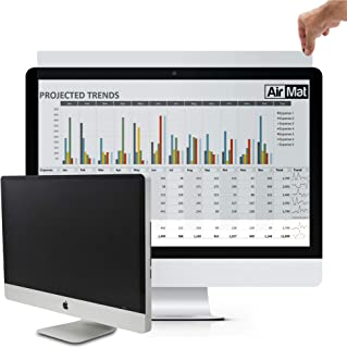"Computer Privacy Screen Filter for Widescreen Display Monitors by AirMat. Anti Glare Protector Film for Data Confidentiality. Black Black 31.5"" Widescreen (16:9)"