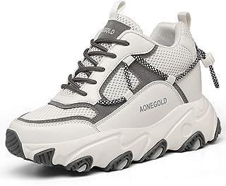 AONEGOLD Sneakers con Zeppa Donna Scarpe da Ginnastica con Tacco Nascosto Sportive Fitness Scarpe Traspiranti Plateau Casu...