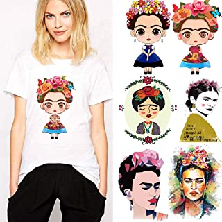 frida kahlo iron on transfer